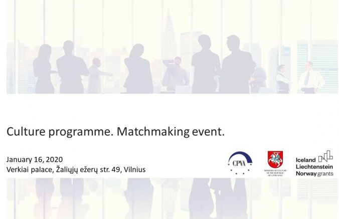 Culture programme: matchmaking event